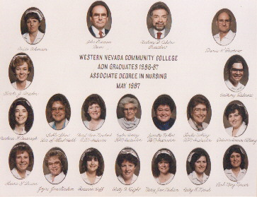 Patti's RN class picture, May 1987