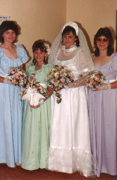 Patti and her Brides' Maids